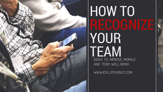 How to recognize your team